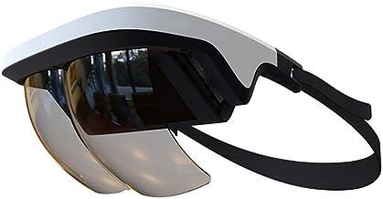 90 درجه FOV AR هدست، عینک هوشمند AR عینک 3D Video Enabled واقعیت هدست VR برای آیفون و آندروید (4.5-5.5 '' صفحه نمایش)، فیلم 3D و بازی ها