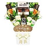 The White Wine Collection & Chocolate Thank You Bouquet Gift Hamper in Presentation Box (3 x