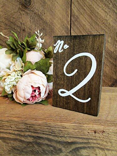 CELYCASY numéros de Table en Bois numéros de Table de Mariage Rustique numéros de Table en Bois numéros de Table de Mariage en Bois numéros de Table personnalisés