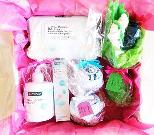 Maxi Canastilla pour bébés avec produits Suavinex et Ropita pour bébé   tout est de marque, 100% coton et de taille 1 – 6 mois   Baby Shower Gift Idea   idée cadeau pour gemel @ s o pour un maxi cadeau à un bébé .   Version unisexe