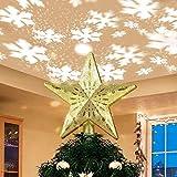 Charlemain Puntale per Albero di Natale, Stella per Punte Albero di Natale Decorazioni per Punte Albero di Natale Topper per Albero di Natale