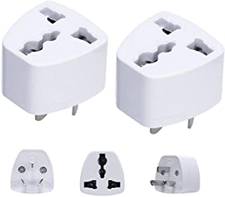 LZLRUN 2PCS Universal Power Adapter Travel Adaptor 3 pin AU Converter US/UK/EU to AU Plug Charger for Australia New Zealand, (LZLRUN)