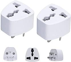 LZLRUN 2PCS Universal Power Adapter Travel Adaptor 3 pin AU Converter US/UK/EU to AU Plug Charger for Australia New Zealand, (LZLRUN)