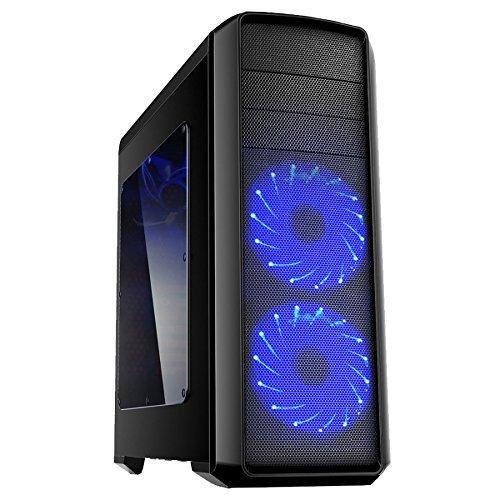 Discountedpcs 4,0 ghz Quad Core, R9 280, Dreifach 59.9cm Monitore, Gaming-PC, Desktop Computer Bundle, Gamer's Headset, LED Satz Der Tastatur & Maus, 300mbit WiFi-Adapter 4,2 ghz AMD 6600K Schnelle Quad-core CPU Prozessor, 3GB AMD Radeon R9 280 x Grafikkarte GPU, Mieder 85+ 600W PSU, 1 TB Festplatte, 16GB 1600MHz Speicher RAM, Aerocool Syclone2 Hülle, DVD-RW, Kein Betriebssystem Enthalten)