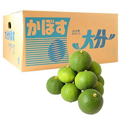 大分竹田産かぼす青果1箱 4Kg(秀品)(送料無料)(受注発注商品)(露地カボス)