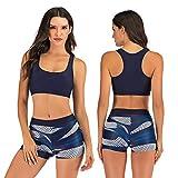 Sexy Lingerie Traje De Bikini De Dos Piezas para Mujer, Sujetador Deportivo, Traje De Bikini Adecuado para Mujeres, Piscina De Verano, Fitness para Correr,Azul,S