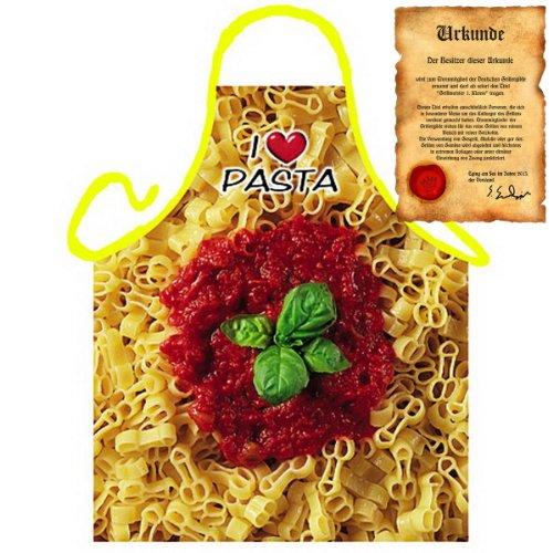Veri sexy italienisch Kochen - la Cucina Italiana Grembiule: Pimmelpasta - Geschenke Kochschürze mediterrane Küche one Size, bunt mit gratis Urkunde :