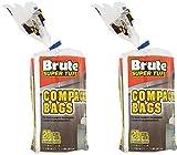 (2 Pack) Brute Super Tuff Heavy Duty 20 Gallon Size Compactor/kitchen Bags - White
