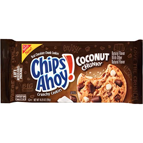 CHIPS AHOY! Chunky Coconut Chocolate Chip Cookies, 1 Pack (10;25 oz;)