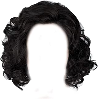 Snow Wig Xcoser Hot TV Short Curly Wave Layered Hairs for Men