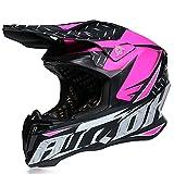 GENGJ Helm Moto Moto Motocross Helm Helm Moto ATV Buggy Casco I Caschi di Motocross per Uomo E Casco da Donna,M