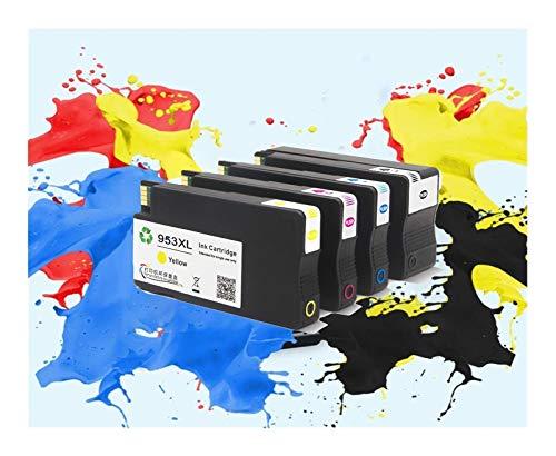 TZZD HP 953XL 953 XL HP953 - Cartucho de tinta de repuesto para HP Officejet Pro 7740 8210 8710 8720 8725 8740 (color: 4 piezas (BK C M Y))