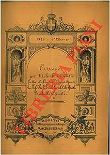 Cessione per titolo di vitalizio in merito ad un podere detto Casetti o Bolletto e di un predio denominato Botta Barisella siti nel Comune di Sala, Parrocchia di Padulle