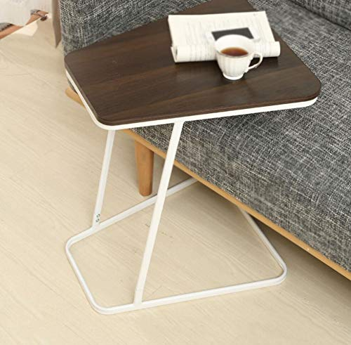 HRFHLHY Bureau D'ordinateur Portable Simple Et Portable Petite Table Basse Table De Chevet Canapé Table D'appoint,Wood