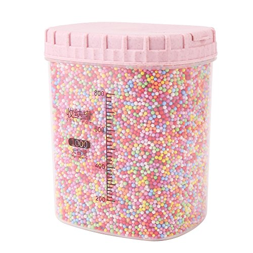DECORA 80000 Pieces Styrofoam Balls Slime Supplies Colorful Foam Beads 2-3mm for Kids Art Homemade Slime, Wedding and Party Decorations
