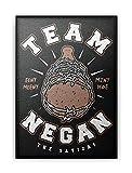 LeRage Team Negan - Póster (28 x 35,5 cm), marco de regalo para fans de TWD y amantes de los zombies, compatible con Walking Dead