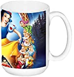MasTazas Blancanieves Y Los Siete Enanitos Snow White and The Seven Dwarfs Disney Taza Grande Ceramica 15 oz ≈ 443 ml