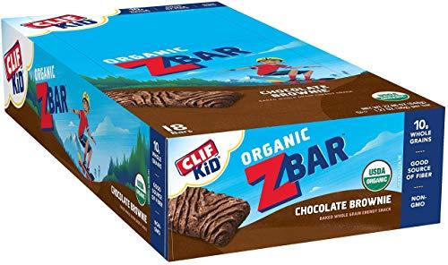 CLIF Organic Z Bar Chocolate Brownie 18 Count, 1.27 OZ