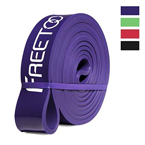 FREETOO Fitness Resistenza Band Fasce Elastiche, Perfette per Riabilitazione Dopo Un Infortunio, Yoga, Pilates, Crossfit, Viola