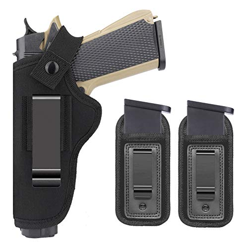 Anjilu Concealed Carry Right Left IWB Holster with Extra Mag Holster | Fits Most 1911 Style Handguns | Kimber | Colt | S & W | Sig Sauer |Remington | Ruger & More