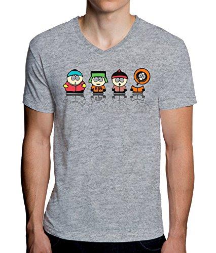 South Park Heroes Graphic Design Men's V-Neck T-Shirt X-Large