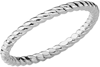 Dainty Stackable Rope-Style Wedding Ring in Sterling Silver