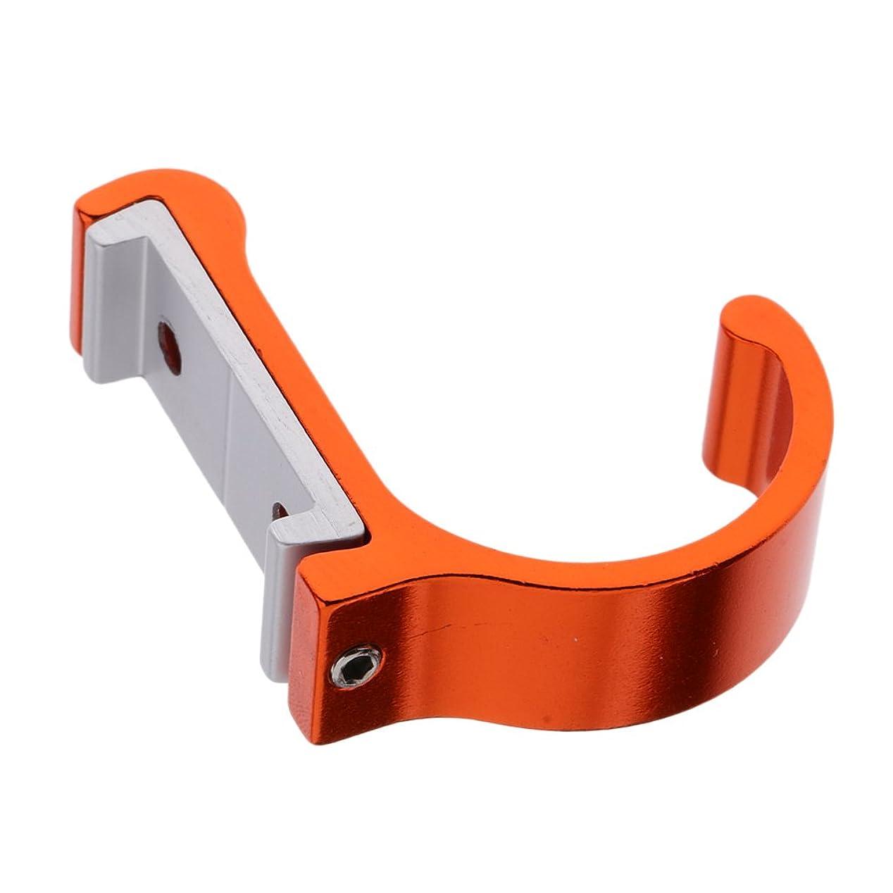 過度に対角線仕えるハットフック ドア 壁掛け ネジ付き ハンガー シングルフック 空間節約 全10色 - オレンジ