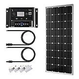 Sunix 100W 12V Panel Solar monocristalino, Controlador...
