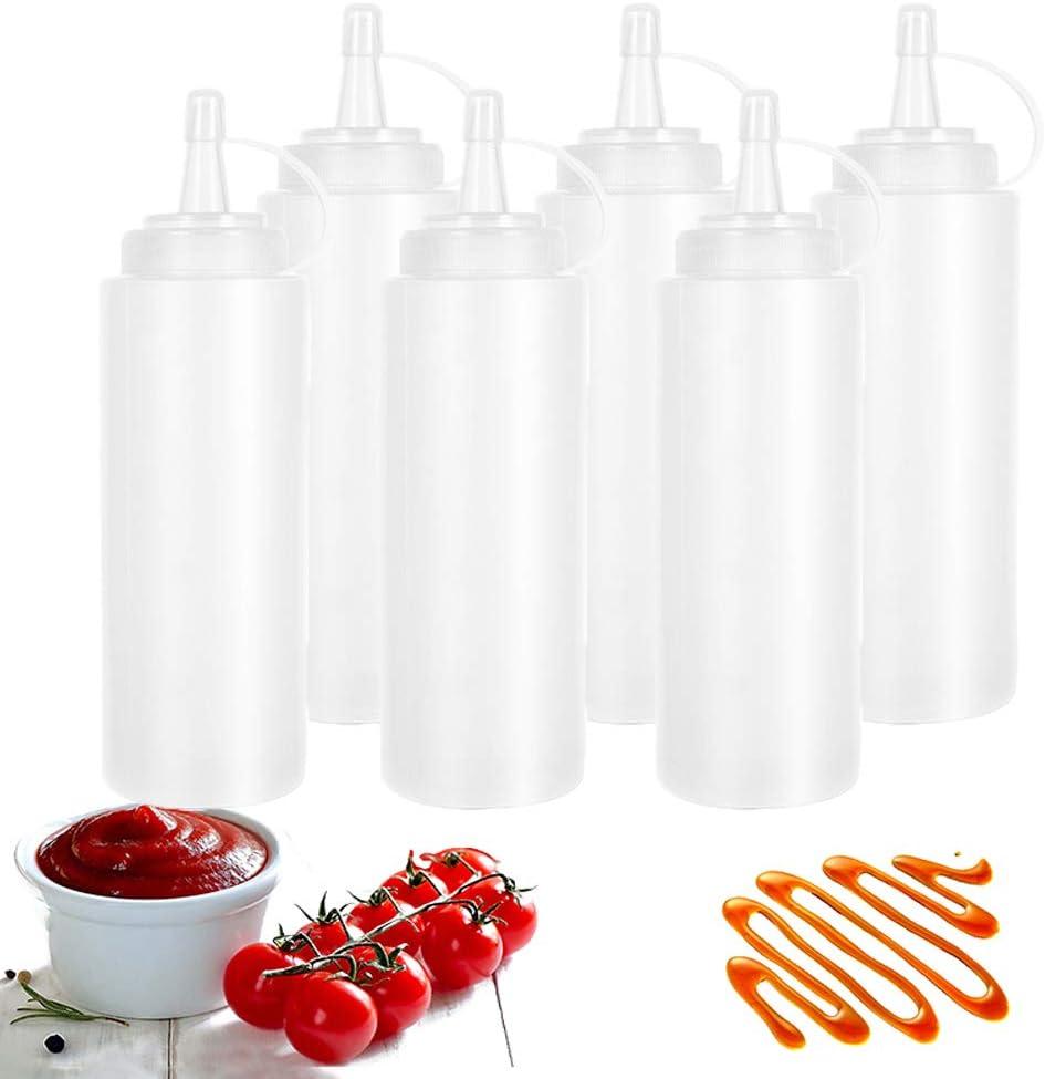 Max 60% OFF 6 Pack 24oz Squeeze Bottle Condiment Bottles Plastic Super popular specialty store ket