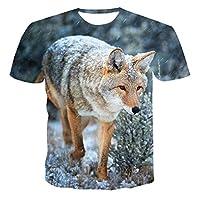 ティーンズ3DプリントSIBERIANHUSKYシャツ半袖コットンTシャツラウンドネックTシャツ夏快適ルーズファッションカジュアルカジュアル服Tシャツストリートウェアユース,5XL