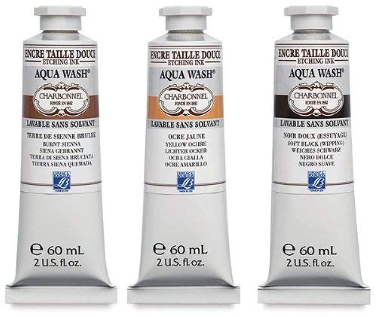 Charbonnel Aqua Wash Etching Ink - Black RSR 60ml Tube