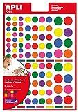 APLI Kids - Bolsa de gomets multicolor surtido, 6 hojas adhesivo...
