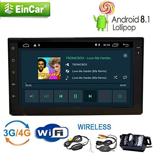 Nuovi autoradio con navigazione di GPS Android 8.1 Oreo 2GB DDR3 RAM 16GB ROM 7 pollici Doppio Din Stereo Bluetooth Handsfree Autoradio Car System 1080P Video Player per USB / SD in precipitare W