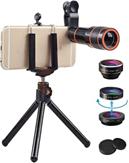 Multifunctional 18x telephoto Zoom Lens, 4-in-1 Miniature Removable HD Lens, 37mm Threaded Removable clamp Design Reduces ...
