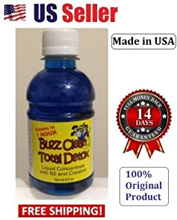New Buzz Clean Total Detox Powerful- Cleans Flush Total Body Toxins in 1 Hour - 8 oz (Blue)