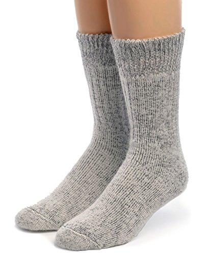 WARRIOR ALPACA SOCKS – Damen Toasty Toes Ultimate Alpaca Socken - Grau - Large