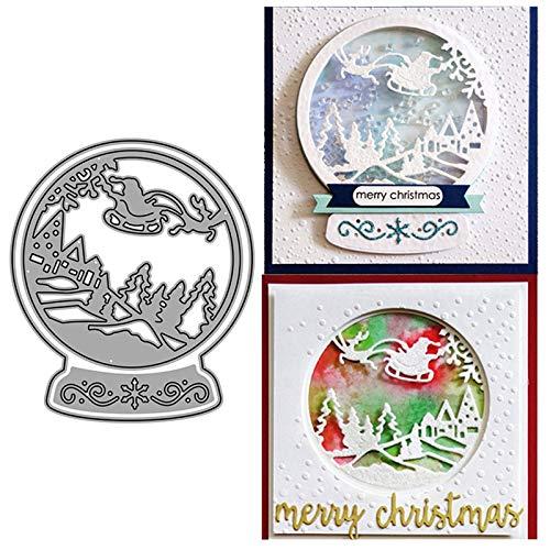 Santa Snow Globe Christmas Metal Cutting Die DIY Card Embossing Die Scrapbooking Album Paper Cards Art Craft Stencils Scrapbooking (Santa Smow Globe)