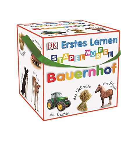 Dorling Kindersley Verlag Erstes Lernen Stapelwürfel. Bauernhof: 10 stabile Karton-Würfel mit tollen Fotos zum Spielen, Entdecken und Benennen