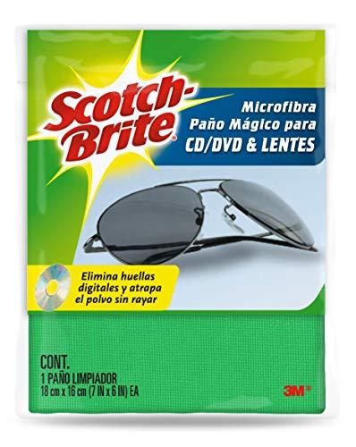 3M Scotch-Brite Paño de Microfibra para CD/DVD/Lentes, colores aleatorios