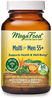 MegaFood - Multi for Men 55+, Multivitamin Support for Energy Production, Brain Function, Prostate and Heart Health with Z...