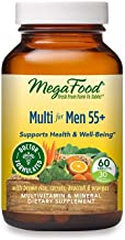 MegaFood, MegaFood's Multi for Men 55+, Supports Optimal Health and Wellbeing, Multivitamin and Mineral Supplement, Gluten...