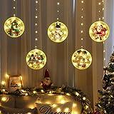 Decoraciones navideñas Cadena de luces LED USB Luces de hadas impermeables 1.5M * 0.65M Luces LED para colgar en la ventana para la fiesta de Navidad en interiores y exteriores con control remoto