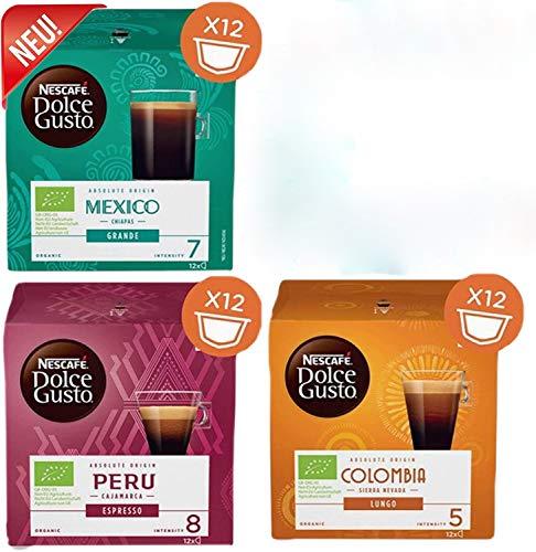 Nestlé - Dolce Gusto - Absolute Origin Collection - 4 verschiedene Sorten - 48 Kapseln - Espresso - Grande - Lungo