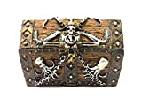 PTC 5.5 Inch Skull and Chain Pirate's Chest Jewelry/Trinket Box Figurine