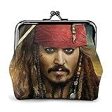 Pirates du Caribe - Monedero para tarjetas de crédito, cierre de bolsillo exquisito para maquillaje, cambio de mujeres en piel