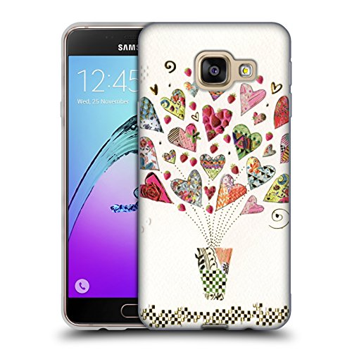 Head Case Designs Offizielle Turnowsky Herzen Nitz Natz Soft Gel Huelle kompatibel mit Samsung Galaxy A3 (2016)