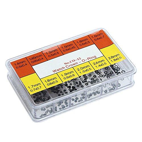 SODIAL(R)12 Arten der Reparatur von Uhren Gummiringe von Dichtungsmanschette