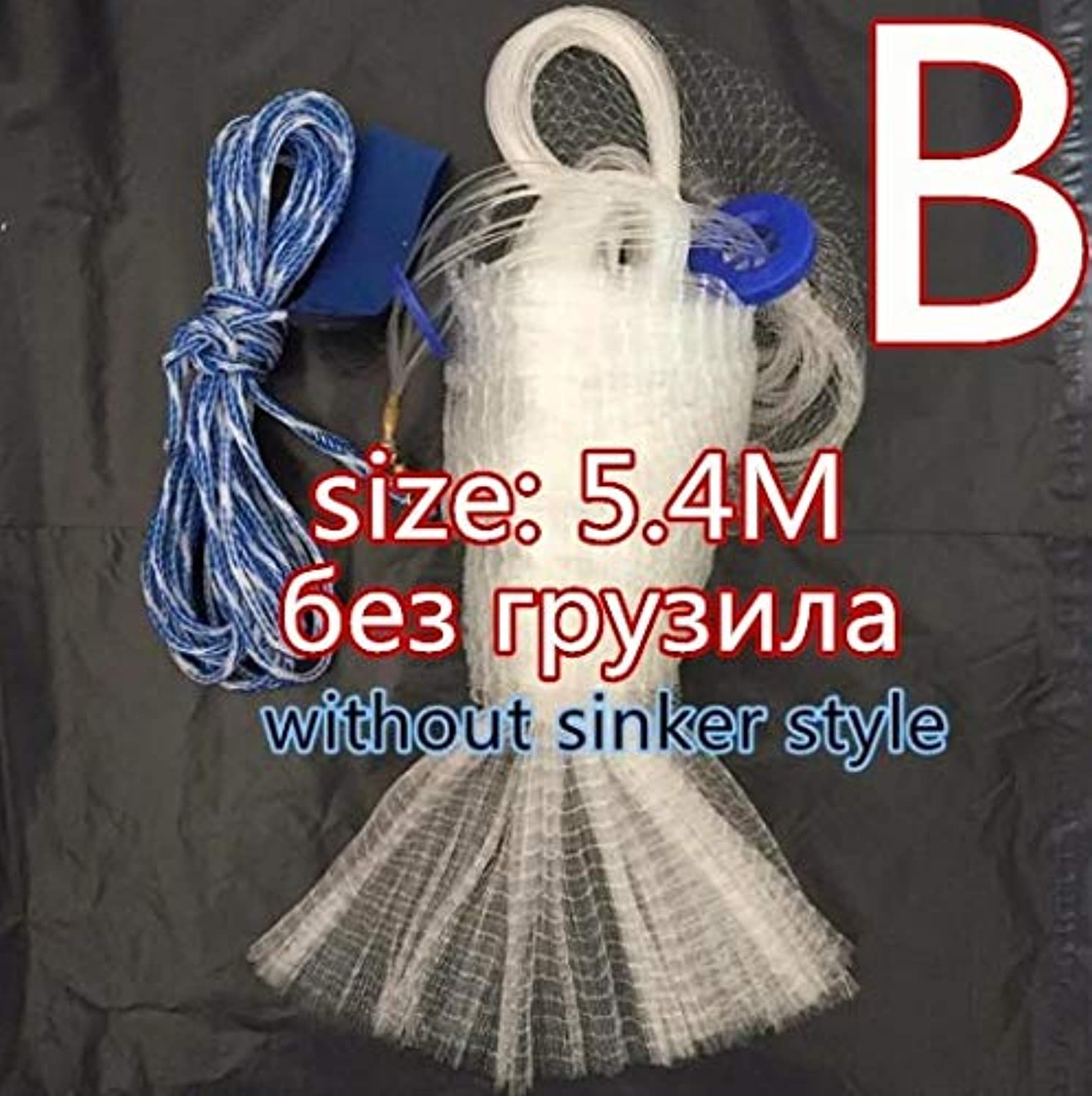 Finefish Cast Net 2.4M7.2M Size Fishing Network Fly USA Hand Cast Net Outdoor Spreds Throw Catch Fishing Net Tool Gill net   540cm Without Sinker