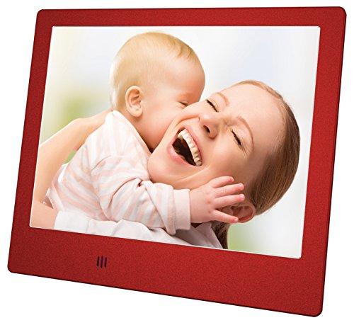 Mediacom M-PFS8R Digitale fotolijst, 20,3 cm (8 inch), rood, 800 x 600 pixels, TFT-LCD, TFT, 4:3, BMP, JPG, AVI, MPEG, RMVB, TS)