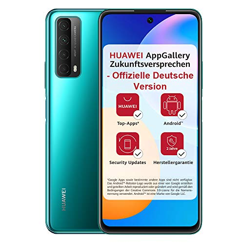 HUAWEI P smart 2021 Dual SIM Smartphone (16,94 cm - 6,67 Zoll, 128 GB interner Speicher, 4 GB RAM, Android 10 AOSP ohne Google Play Store, EMUI 10.1) crush green + 5 EUR Amazon Gutschein